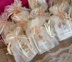 Baptism favors/recuerditos en repujado bautizo