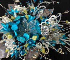 Bridal Bouquet in turquoise 